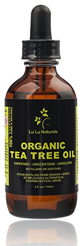 Organic Tea Tree Oil Pharmaceutical Grade-Steam Distilled-Glass Dropper Natural Antiseptic-Best All Natural Remedy for DandruffAcneToenail Fungus Cleansing Purifying Renewing Properties