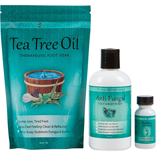 Toenail Fungus Treatment with Antifungal Soap Tea Tree Oil Foot Soak and ReNew Topical Solution - Helps Treat and Restore the Appearance of Fungus Infected Nails