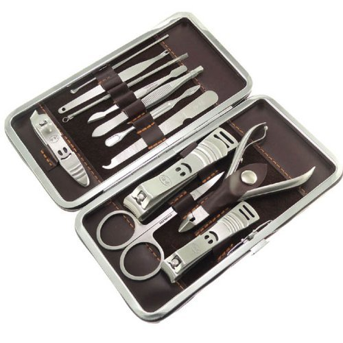 12 Pcs Nail Care Personal Manicure Pedicure Set Travel Grooming Kit