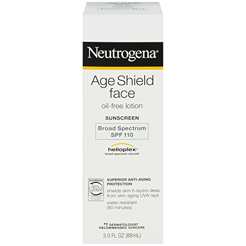 Neutrogena Age Shield Face Oil-Free Lotion Sunscreen Broad Spectrum SPF 110 3 Fl Oz