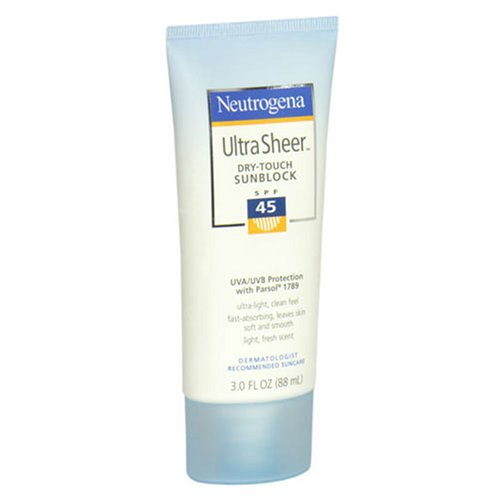 Neutrogena Ultra Sheer Dry-Touch Sunscreen SPF 45 3 Ounces Pack of 2