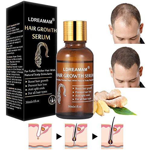 Hair Growth Serum Hair Treatment Serum Oil Hair Growth Treatment Stops Hair LossThinningBalding Promotes Thicker Fuller and Faster Growing Hair
