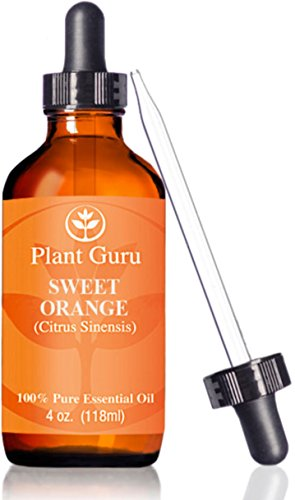 ★ Sweet Orange Essential Oil ★HUGE 4 oz ★ Therapeutic Grade ★ 100 Pure Natural ★ With Glass Dropper