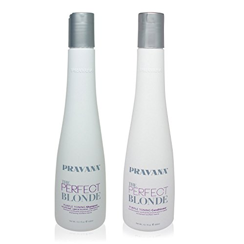 PRAVANA THE PERFECT BLONDE Purple Toning Shampoo and Conditioner DUO 101Oz each