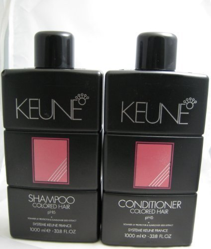 Keune Colored Hair Shampoo and Conditioner Combo Deal 1 Liter Each by Keune