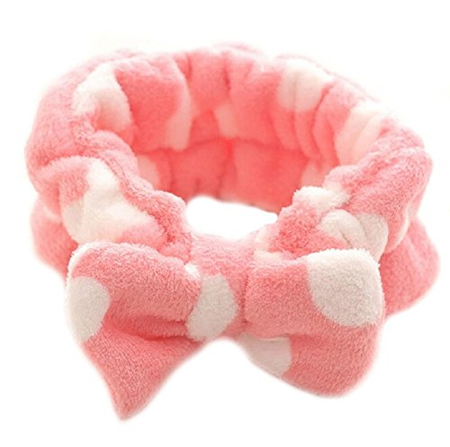 Women Fashion Owknot Bow Makeup Cosmetic Shower Elastic