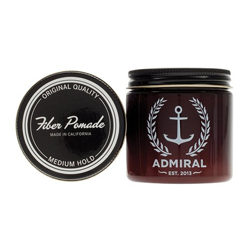 Admiral Fiber Pomade StrongMedium Hold-Medium Shine 4oz - Paraben Free