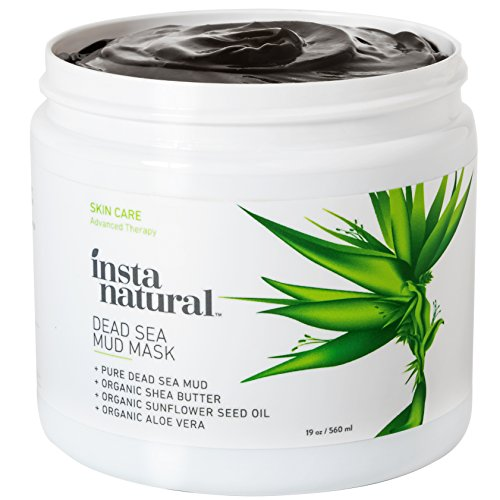 InstaNatural Dead Sea Mud Mask 19 oz- Reduce Facial Pores - Organic for Oily Acne Prone Skin Blemishes Complexion - Mineral Infused Fine Line Reducing Product with Shea Butter Aloe Vera