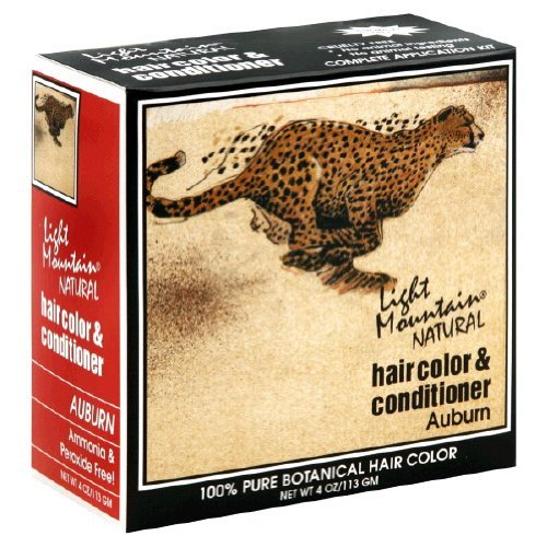 LIGHT MOUNTAIN HENNA Hair Color Auburn 4 OZ