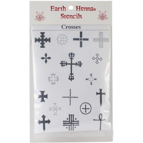 Earth Henna SPLS-CR Stencil Transfer Pack Crosses Collection