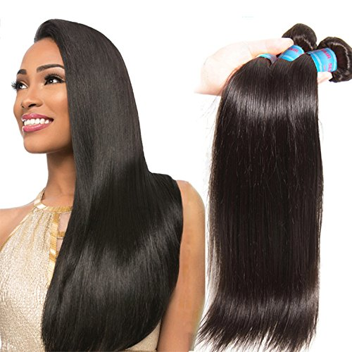 Donmily Top Quality Brazilian Silky Straight Hair Extension 3pcslot 100 Unprocessed Virgin Remy Human Hair Weft Bundles 95-100gpc 20 22 24 Natual color