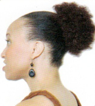 Afro Beauty Collection Synthetic Hair Drawstring Ponytail - Puff Wiglet S - Color 1B - Off Black