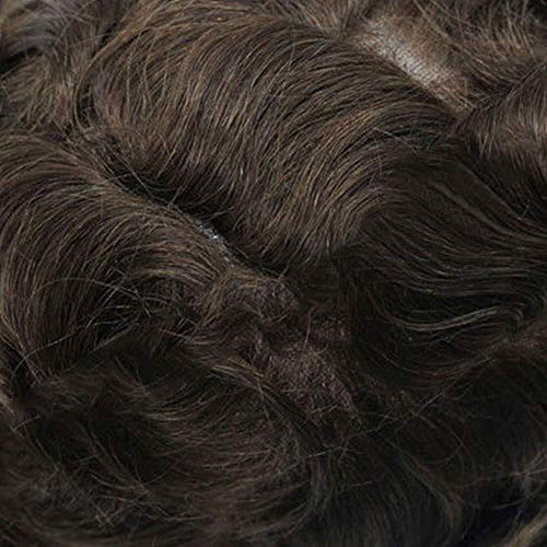 Mens Toupee Hair Lace With Thin PU Replacement Systems 8x10 inches Indian Remy Hair Toupee Men Hair Piece wig1303
