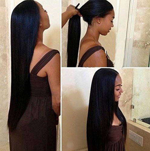 Mike Mary 7A Top Brazilian Straight Hair Lace Front Wigs for Black Women with Baby Hair Human Hair Lace Wigs 10inch 1