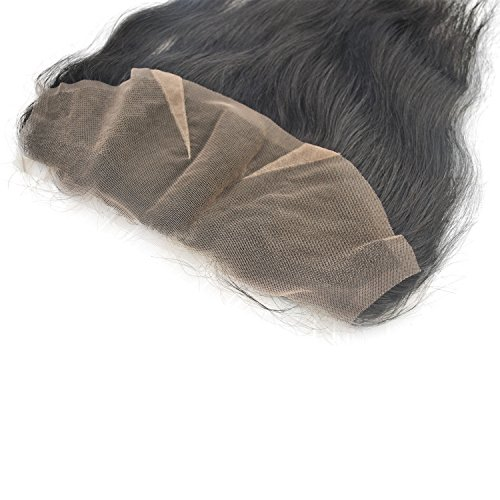 4x13 Lace Frontal Human Hair Toppers Hairpiece Natural Black 14inch clearance