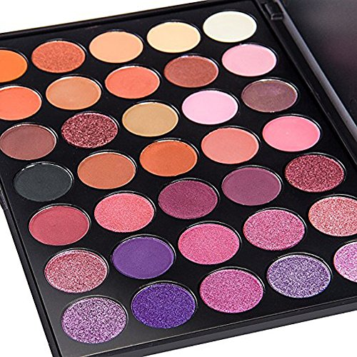 DONGXIUB 35 Color Glitter Gold Orange Eyeshadow Warm Colour Smoky Makeup Palette Professional Eyeshadow Make Up Kit Set P
