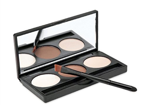 Pure Vie Professional 3 Colors Eyebrow Powder Palette Makeup Contouring Kit for Salon and Daily Use