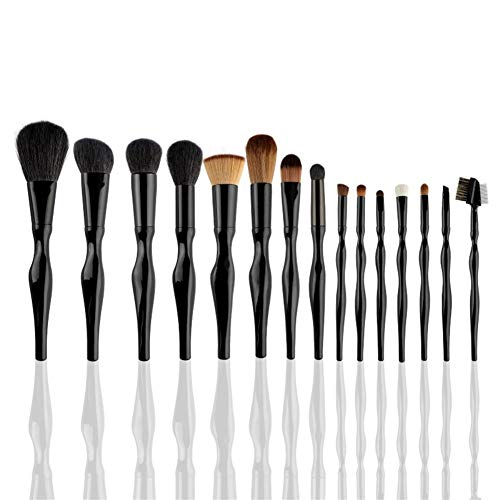 Makeup Tools 15 Pieces Makeup Brush Set Brush Set Synthetic Hair Makeup Brush Makeup Tool Portable Beauty Brush Makeup Brush Black Kits Color  Black