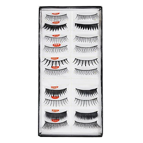 Beauties Factory 10 Pairs Mixed Styles False Eyelashes by Beauties Factory