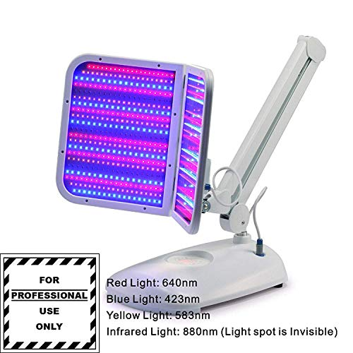 Sweet-Dream Desk LED Light machine 3 colors Red Blue Yellow with Infrared Light 880nm skin care treatment device e7