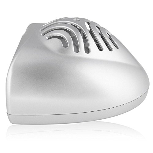 Happy Hours NEW Mini Portable Practical Fan Cute Size Handy Manicure Nail Gel Polish DryerBlower Manicures Tool for Drying Nail Polish Home Professional Use Battery Powered Silver