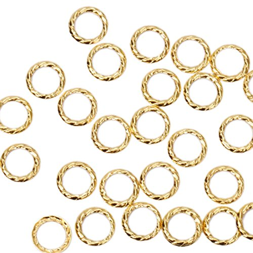 BMC Cute 100pc Gold Metal Alloy Twisted Cut-Out Ring Frame Nail Polish Art Fashion Accessory Stud