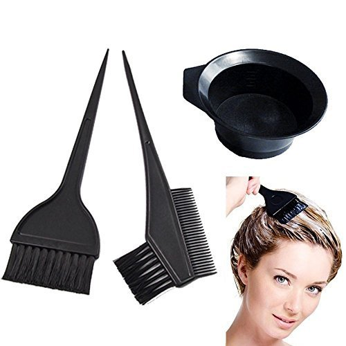 Sealike 4 Pcs Salon Hair Coloring Dyeing Kit Dye Brush Comb Bowl Tint Tool Kit