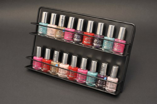 My Nail Polish Rack black Free Standing or Wall Mount Expedited shipping now subsidised on all orders