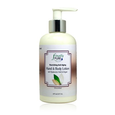 Finally Pure - Unscented Hand Body Lotion with Hyaluronic Acid Argan