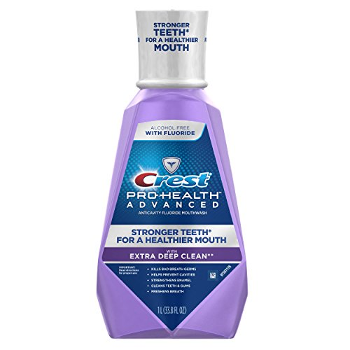 Crest Pro-Health Advanced with Extra Deep Clean Mouthwash Clean Mint 338 Fluid Ounce