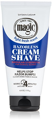 SoftSheen-Carson Magic Razorless Cream Shave - Regular Strength for Normal Beards 6 oz