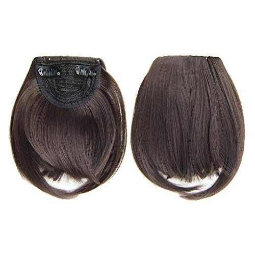 Moligh doll Short Front Neat Bangs Clip In Bang Fringe Hair Extensions Straight Synthetic 100 Real Natural Hairpiece 4