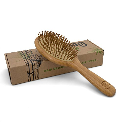 Detangling Bamboo Brush in an Eco Friendly Box Natural Brush for All Hair Types Bamboo Bristles Massage Scalp Order yours