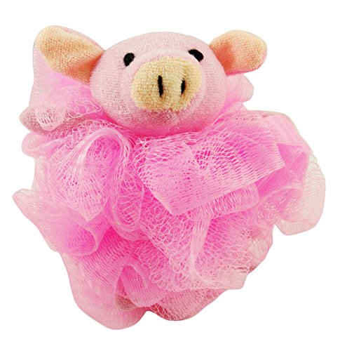 Divo Cute Animal Shape Bath Sponge Body Gentle Exfoliate Puff Pouf Spa Loofah Mesh Luffa Loofah Body Scrubber- 1 Pc