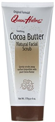 GEN THERAPEU QUEEN HELENE Natural Facial Scrub Soothing Cocoa Butter 6 oz Pack of 3