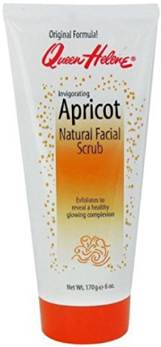 QUEEN HELENE Natural Facial Scrub Invigorating Apricot 6 oz Pack of 3